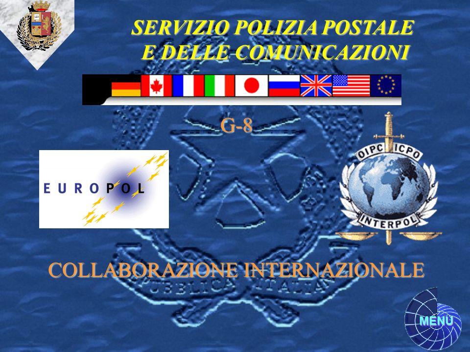 SERVIZIO POLIZIA POSTALE E DELLE COMUNICAZIONI COLLABORAZIONE INTERNAZIONALE G-8