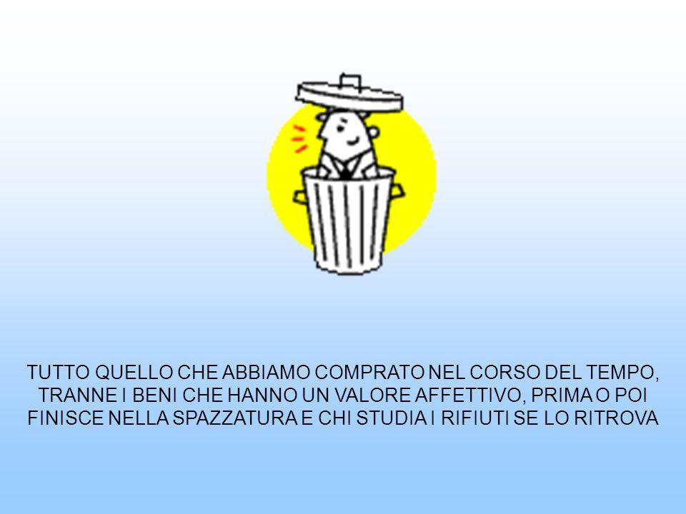 LA NOSTRA SOCIETA PRODUCE OGNI GIORNO ENORMI QUANTITA DI RIFIUTI CHE OCCORRE RACCOGLIERE TRASPORTARE SMALTIRE Il crescente livello dei consumi causa un notevole aumento dei rifiuti
