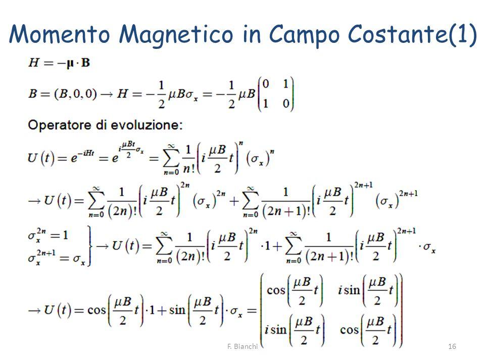 Momento Magnetico in Campo Costante(1) 16F. Bianchi