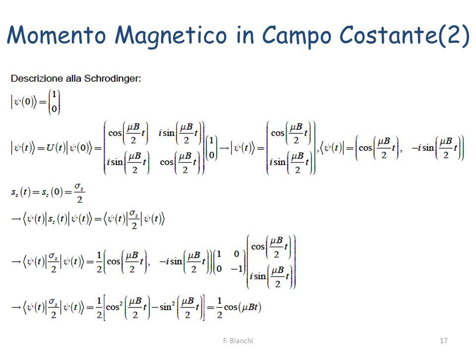 Momento Magnetico in Campo Costante(2) 17F. Bianchi