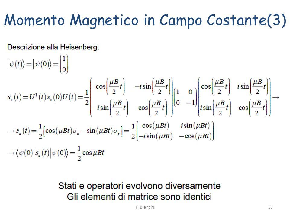 Momento Magnetico in Campo Costante(3) 18F. Bianchi