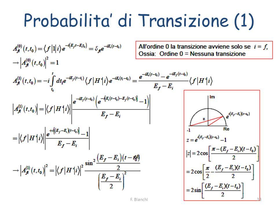 Probabilita di Transizione (1) 33F. Bianchi
