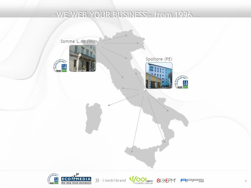 » i nostri brand 4 «WE WEB YOUR BUSINESS» from 1996… Somma L.do (VA) Spoltore (PE)