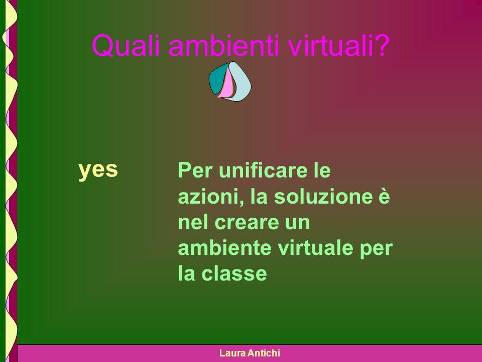 Laura Antichi Quali ambienti virtuali.
