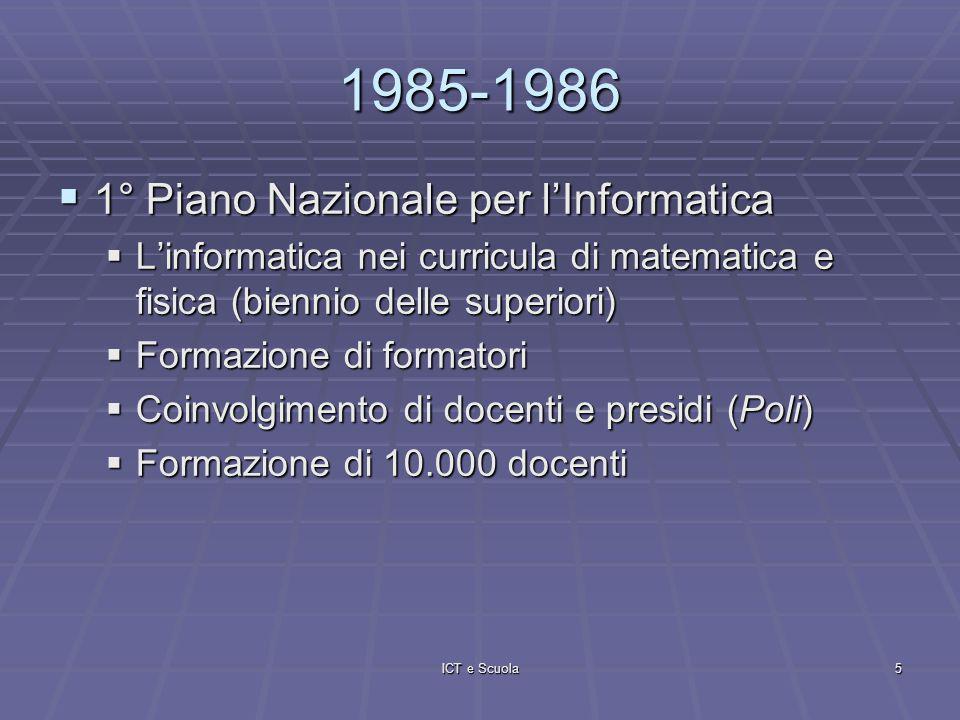 ICT e Scuola6 1991-1992 Estensione delluso dellinformatica anche nelle discipline di Estensione delluso dellinformatica anche nelle discipline di AREA LINGUISTICA