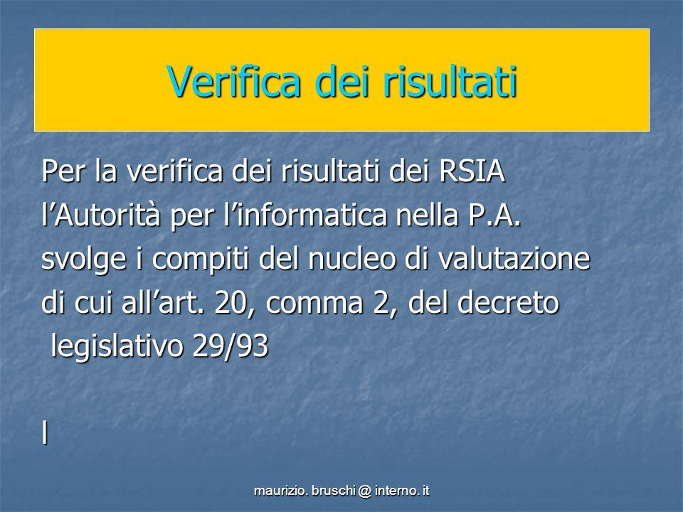 maurizio.bruschi @ interno. it Quale struttura organizzativa.