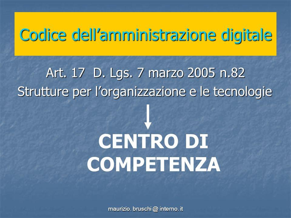 maurizio. bruschi @ interno. it Codice dellamministrazione digitale Art.