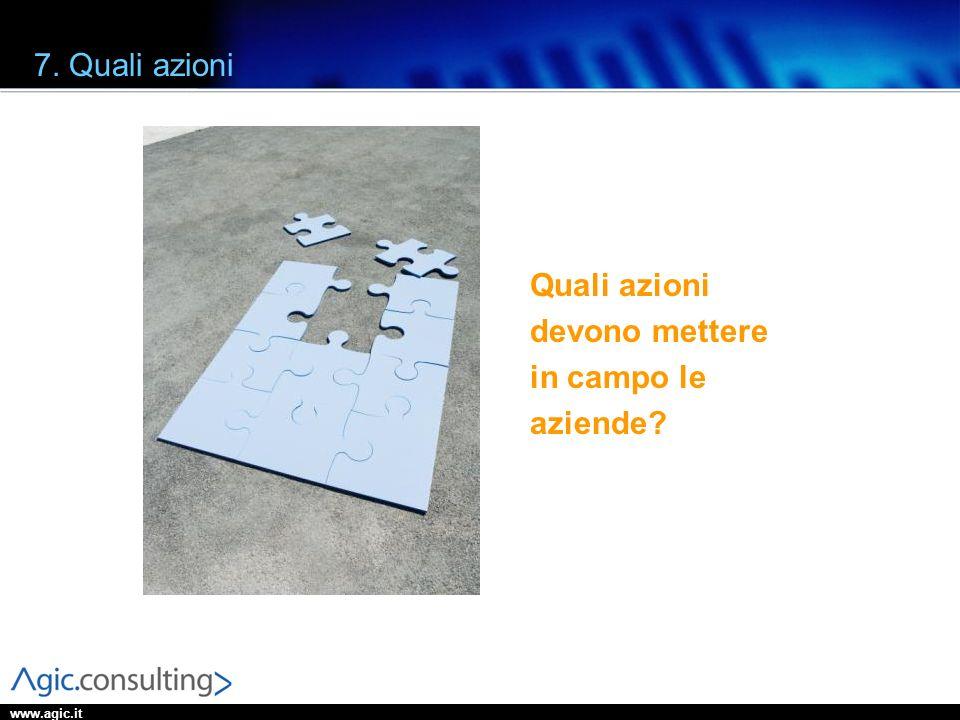 www.agic.it 7. Quali azioni Quali azioni devono mettere in campo le aziende?
