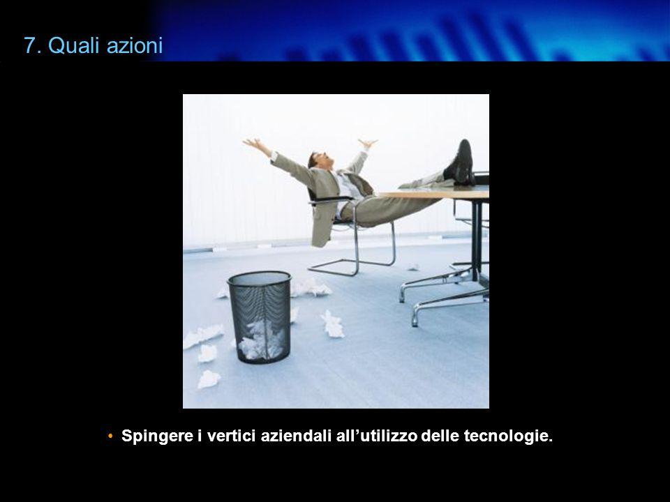 www.agic.it 7. Quali azioni Inserire la semplicità tra i parametri di valutazione.