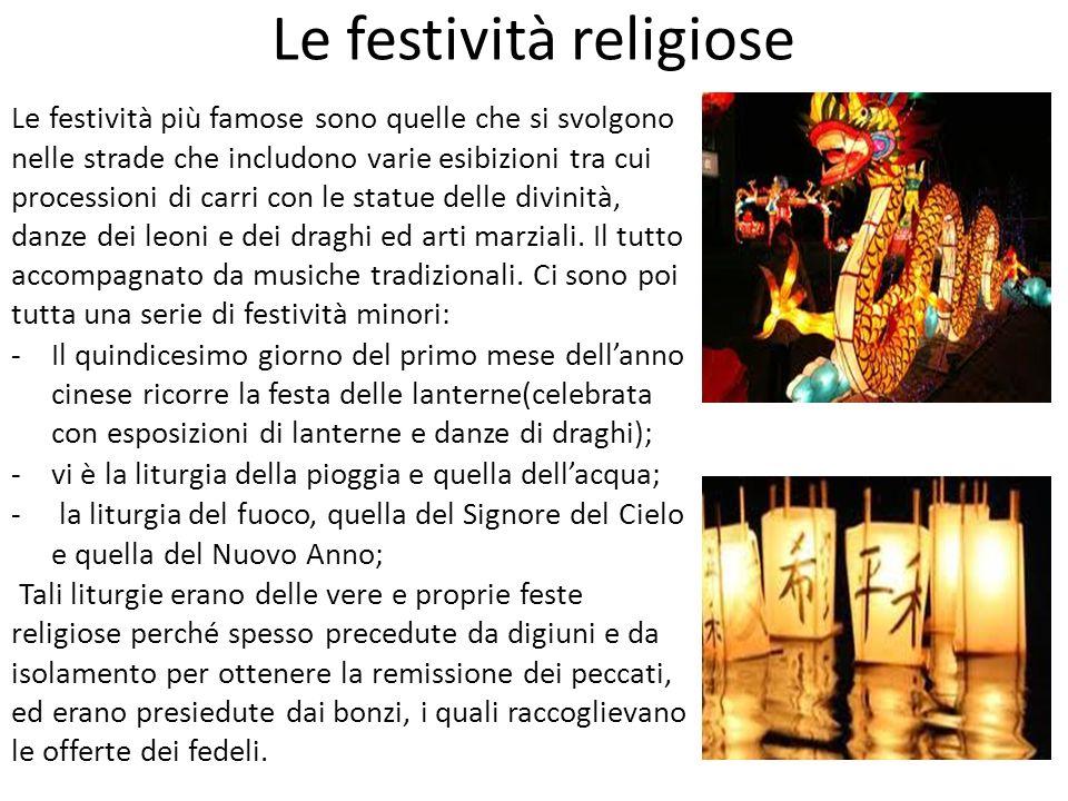 Le festività religiose Le festività più famose sono quelle che si svolgono nelle strade che includono varie esibizioni tra cui processioni di carri co