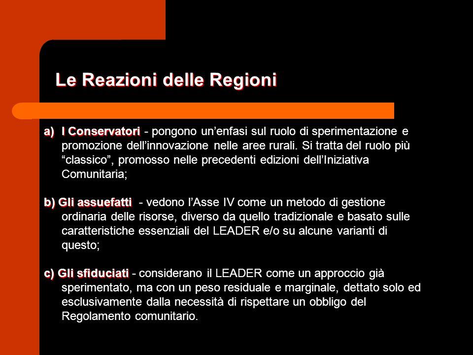 a)I Conservatori a)I Conservatori - pongono unenfasi sul ruolo di sperimentazione e promozione dellinnovazione nelle aree rurali.