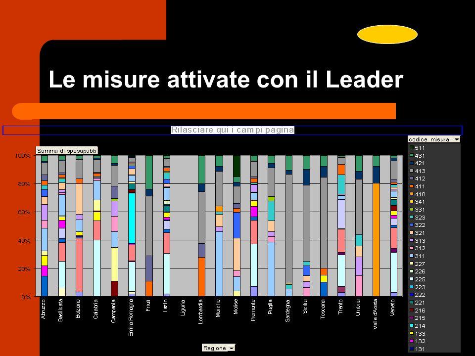 Le misure attivate con il Leader