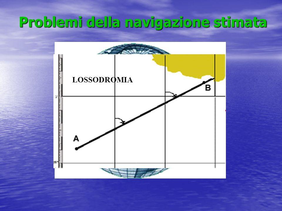Problemi della navigazione stimata Problemi della navigazione stimata LOSSODROMIA