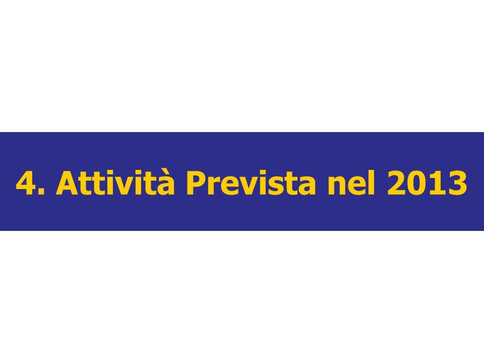 4. Attività Prevista nel 2013