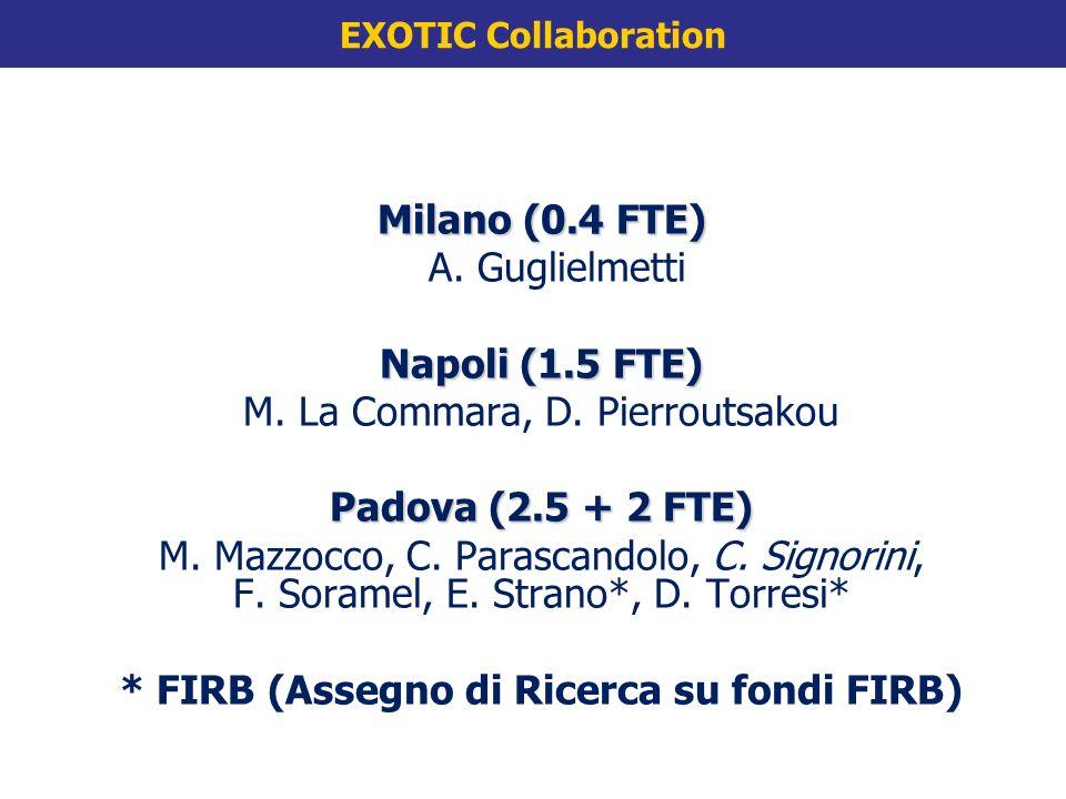 Milano (0.4 FTE) A. A. Guglielmetti Napoli (1.5 FTE) M.