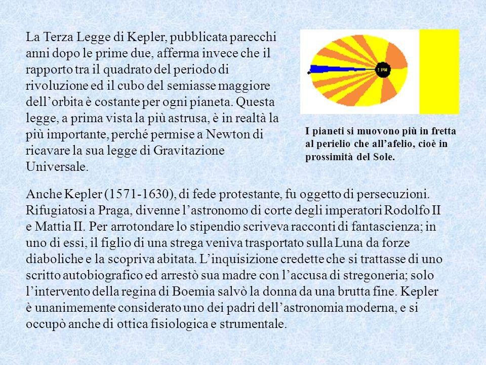 Johannes Kepler Johannes Kepler, amico di Galilei e discepolo di Tycho, usò lenorme mole di dati messa assieme da questultimo non per dare sostanza al