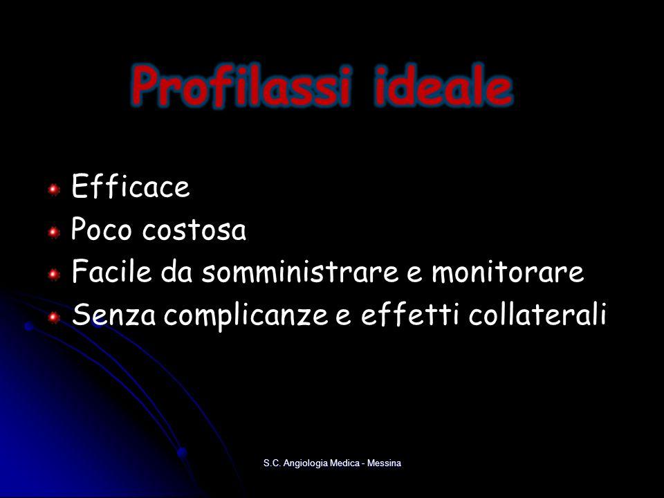 Efficace Poco costosa Facile da somministrare e monitorare Senza complicanze e effetti collaterali S.C. Angiologia Medica - Messina