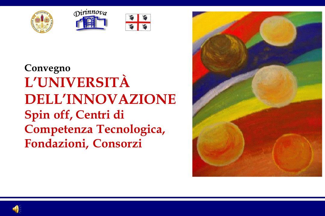 Convegno LUNIVERSITÀ DELLINNOVAZIONE Spin off, Centri di Competenza Tecnologica, Fondazioni, Consorzi