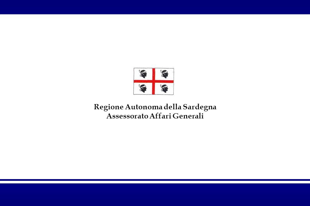 Regione Autonoma della Sardegna Assessorato Affari Generali