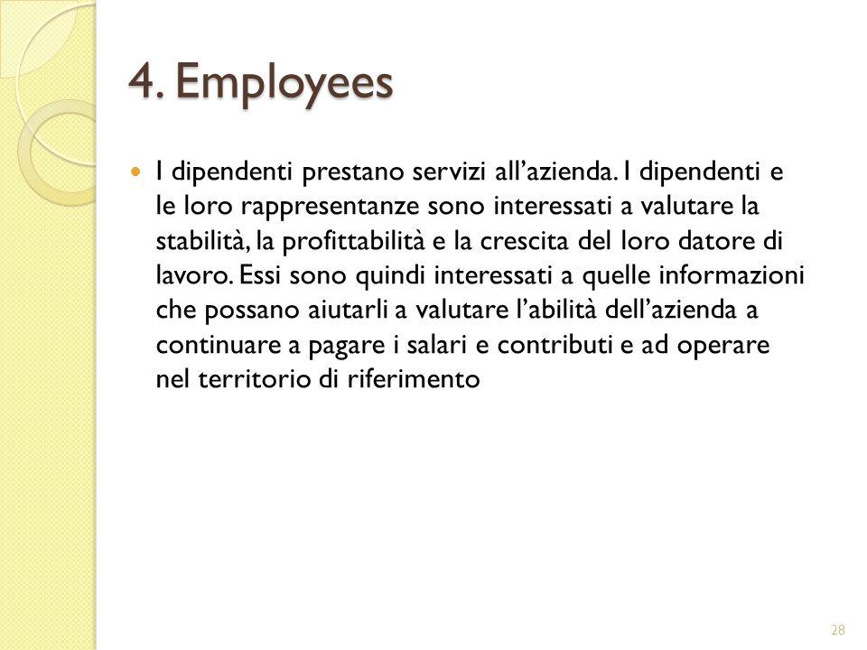 4. Employees I dipendenti prestano servizi allazienda.