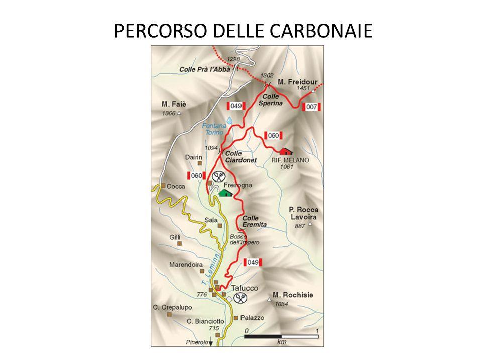 PERCORSO DELLE CARBONAIE