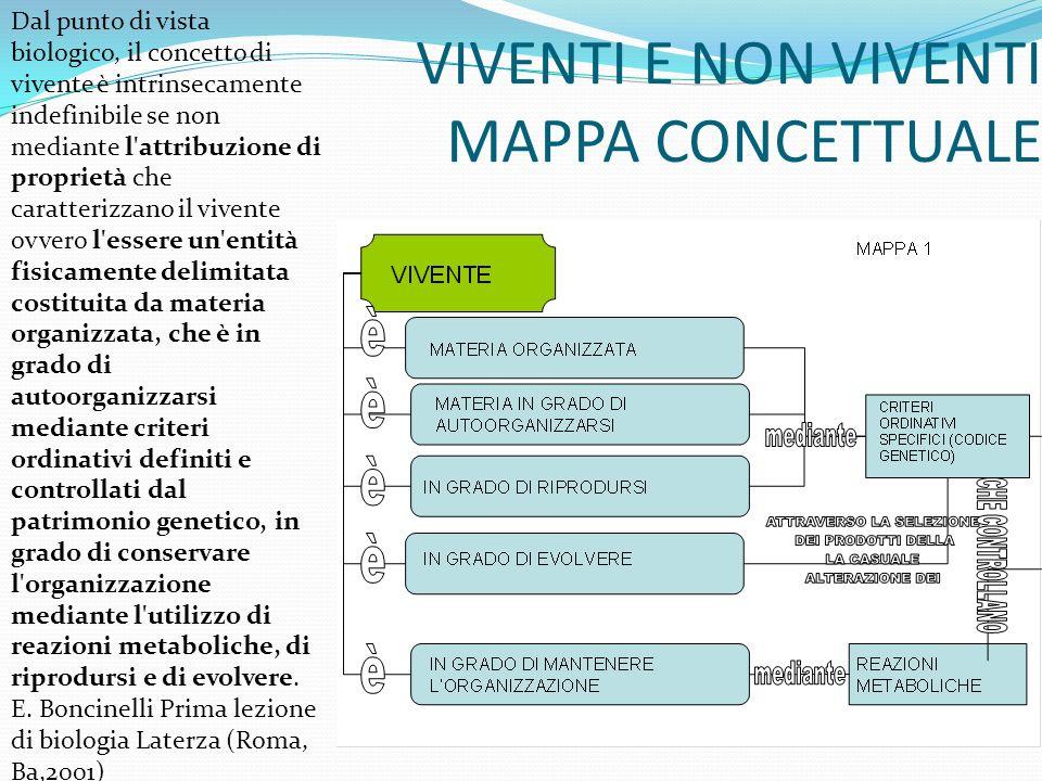 VIVENTI E NON VIVENTI MAPPA CONCETTUALE Secondo Koshland la mappa diviene ancora più astratta.