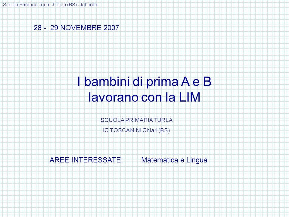 TIMBRO, CONTO POI SCRIVO IN CIFRA E IN LETTERE Scuola Primaria Turla -Chiari (BS) - lab info