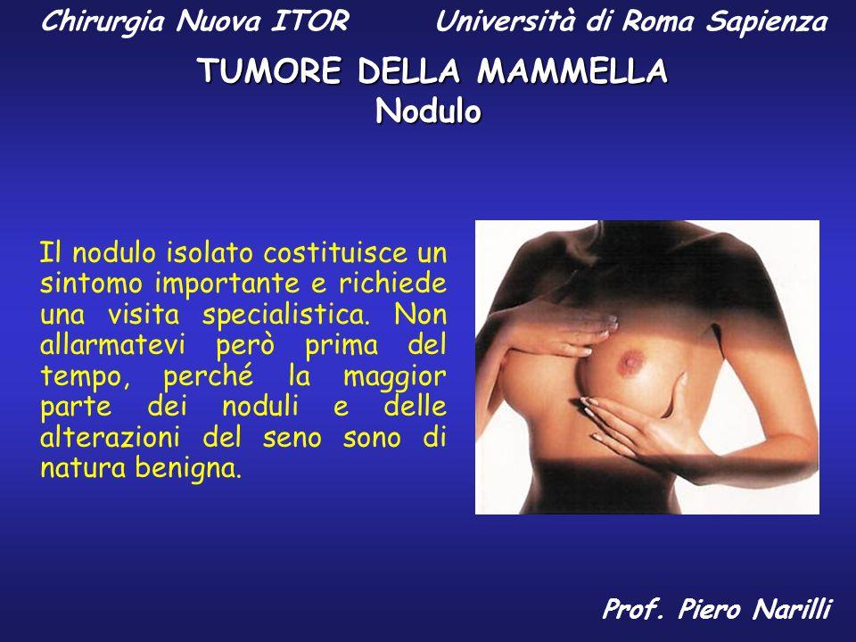 Nodulo Il nodulo isolato costituisce un sintomo importante e richiede una visita specialistica. Non allarmatevi però prima del tempo, perché la maggio