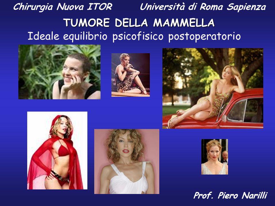 Chirurgia Nuova ITOR Università di Roma Sapienza TUMORE DELLA MAMMELLA Prof. Piero Narilli Ideale equilibrio psicofisico postoperatorio