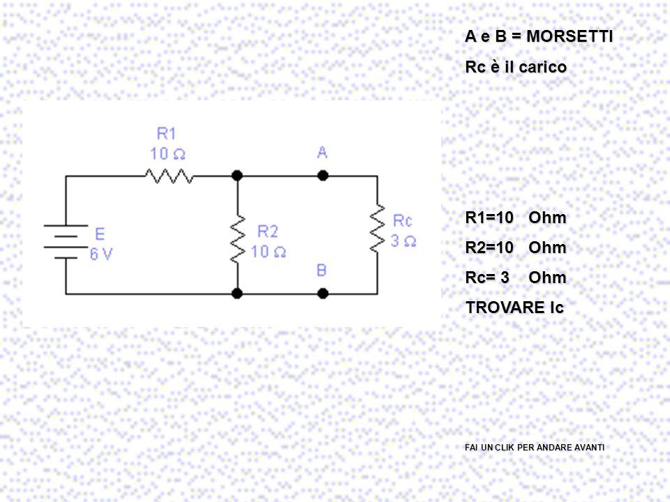 Si applica a qualunque rete purché lineare. Il principio afferma che una rete elettrica vista da 2 terminali è equivalente a un generatore di tensione