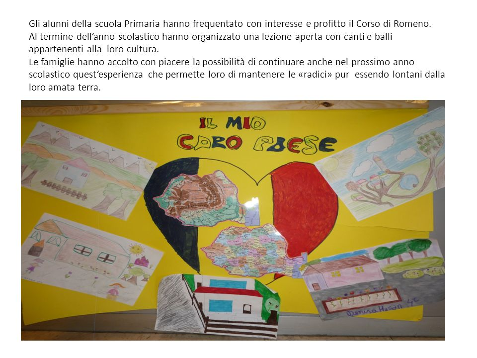 Il corso di lingua e cultura romena si è tenuto ogni martedì dalle ore 16.30 alle ore 18.10 a partire dal 9 ottobre 2012 nei locali del plesso King 1; è stato condotto dallinsegnante madrelingua Mirela Ungurean.