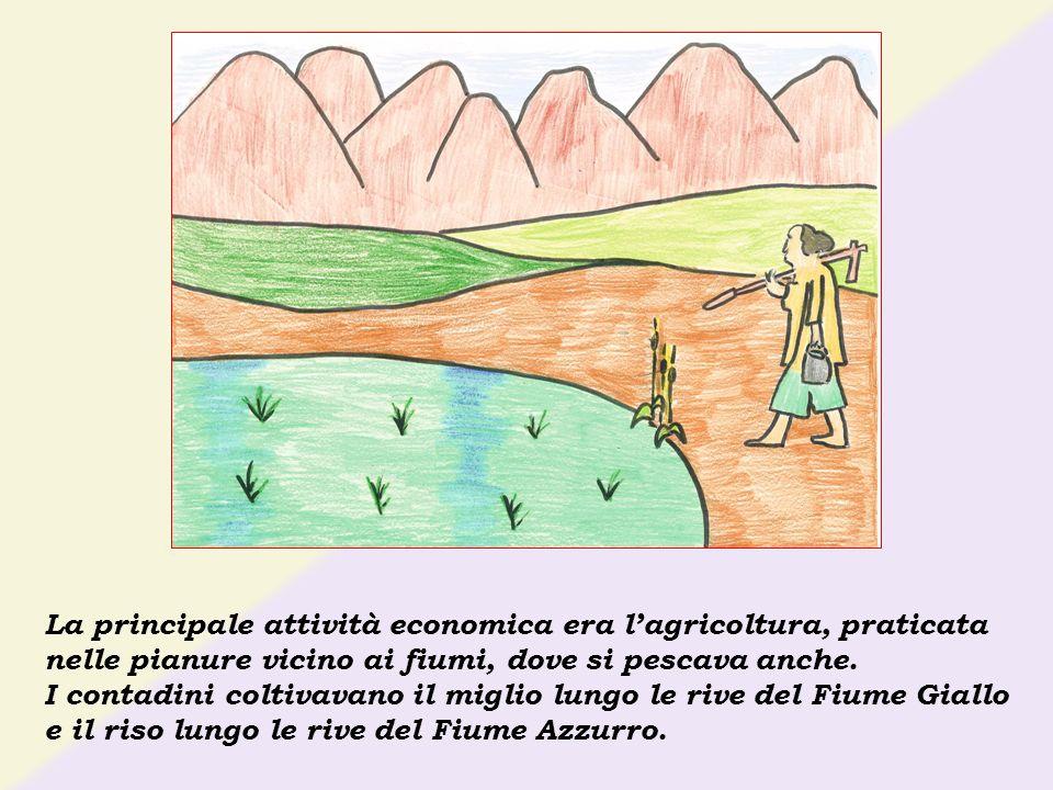 La principale attività economica era lagricoltura, praticata nelle pianure vicino ai fiumi, dove si pescava anche. I contadini coltivavano il miglio l