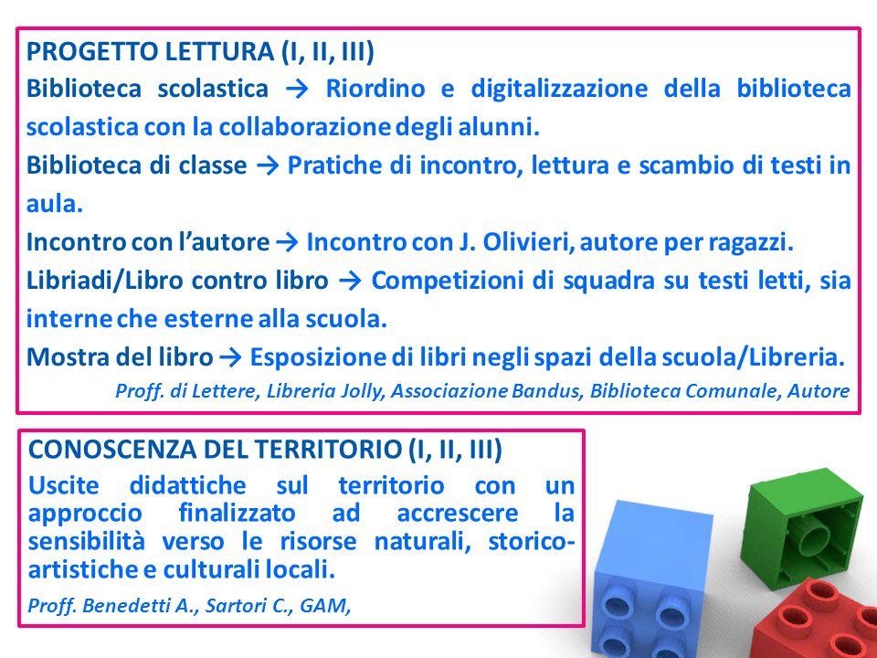 PROGETTO LETTURA (I, II, III) Biblioteca scolastica Riordino e digitalizzazione della biblioteca scolastica con la collaborazione degli alunni.