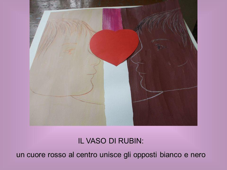 IL VASO DI RUBIN: un cuore rosso al centro unisce gli opposti bianco e nero