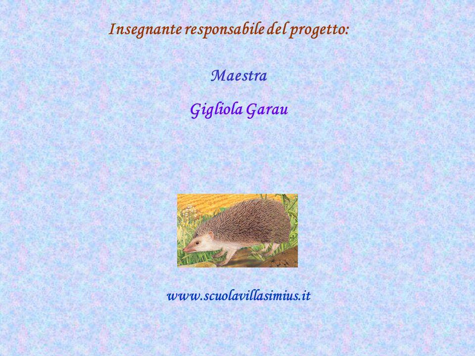 Insegnante responsabile del progetto: Maestra Gigliola Garau www.scuolavillasimius.it