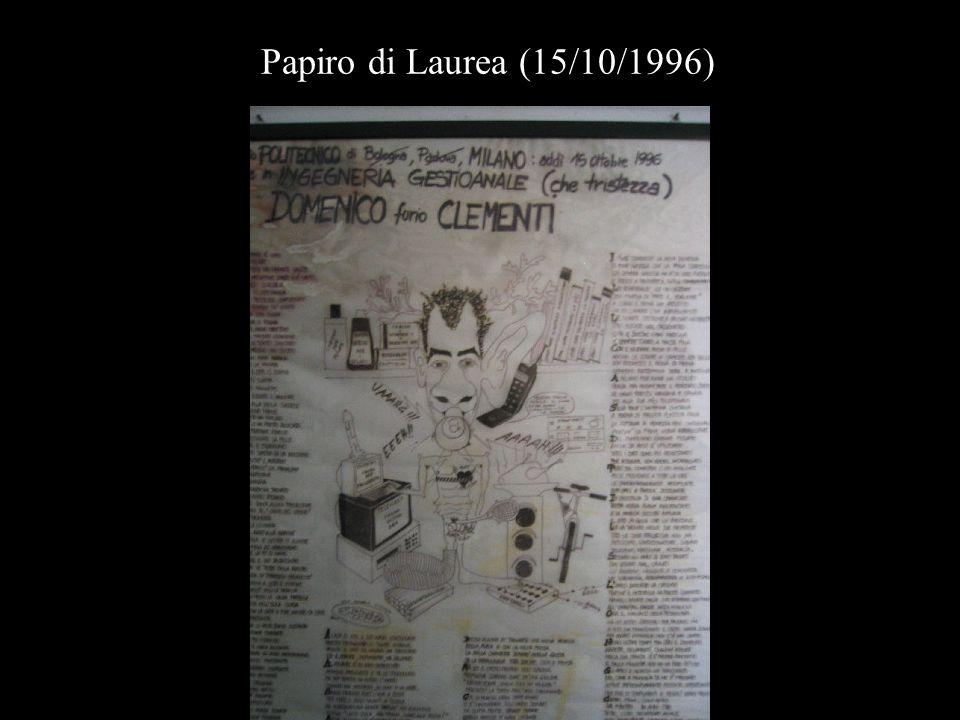 Papiro di Laurea (15/10/1996)