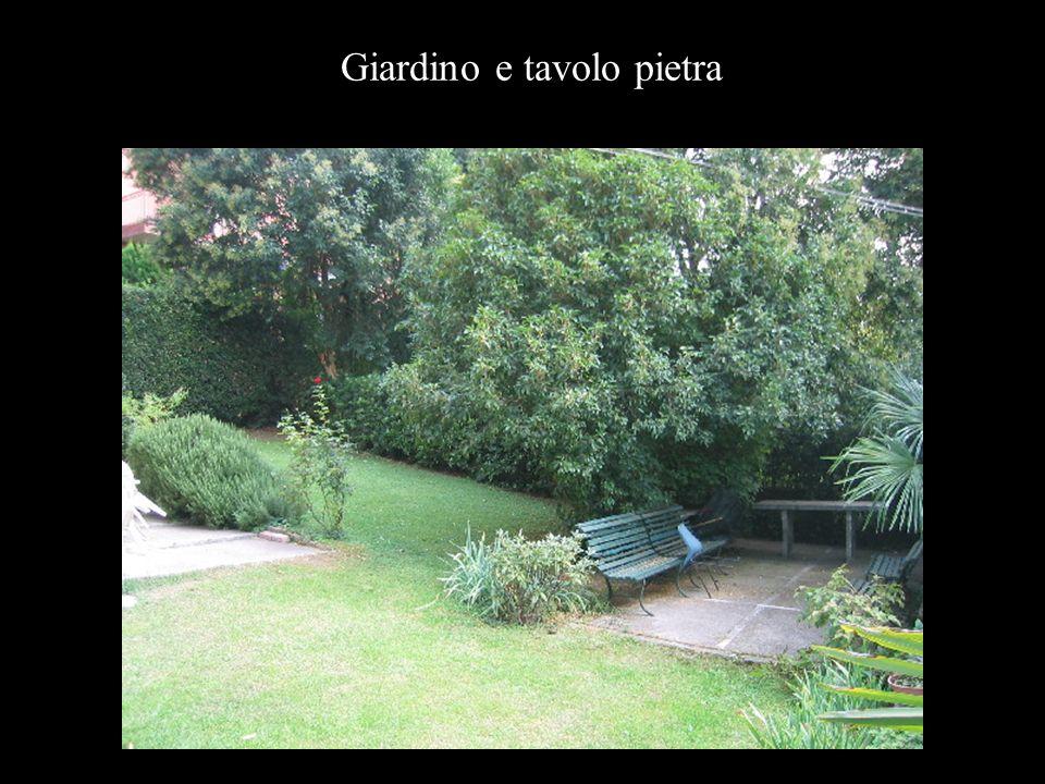 Giardino e tavolo pietra
