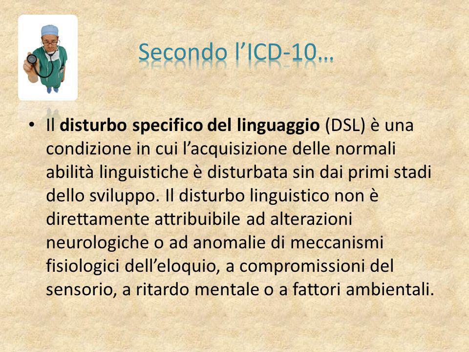 Il disturbo specifico del linguaggio (DSL) è un disturbo evolutivo del linguaggio, detto