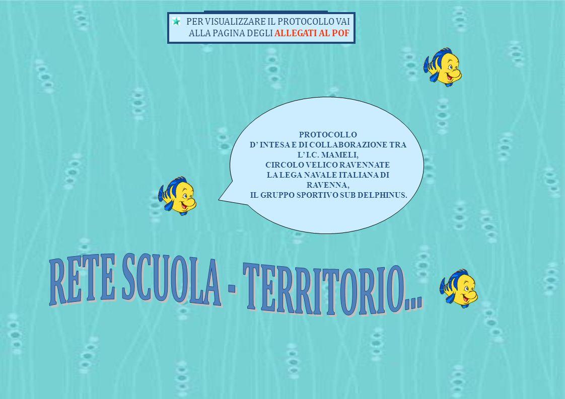 PROTOCOLLO D INTESA E DI COLLABORAZIONE TRA L I.C. MAMELI, CIRCOLO VELICO RAVENNATE LA LEGA NAVALE ITALIANA DI RAVENNA, IL GRUPPO SPORTIVO SUB DELPHIN