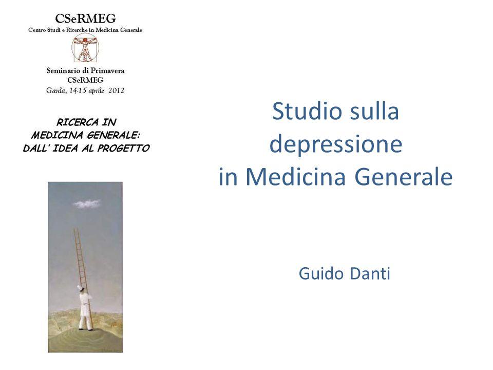 Studio sulla depressione in Medicina Generale Guido Danti