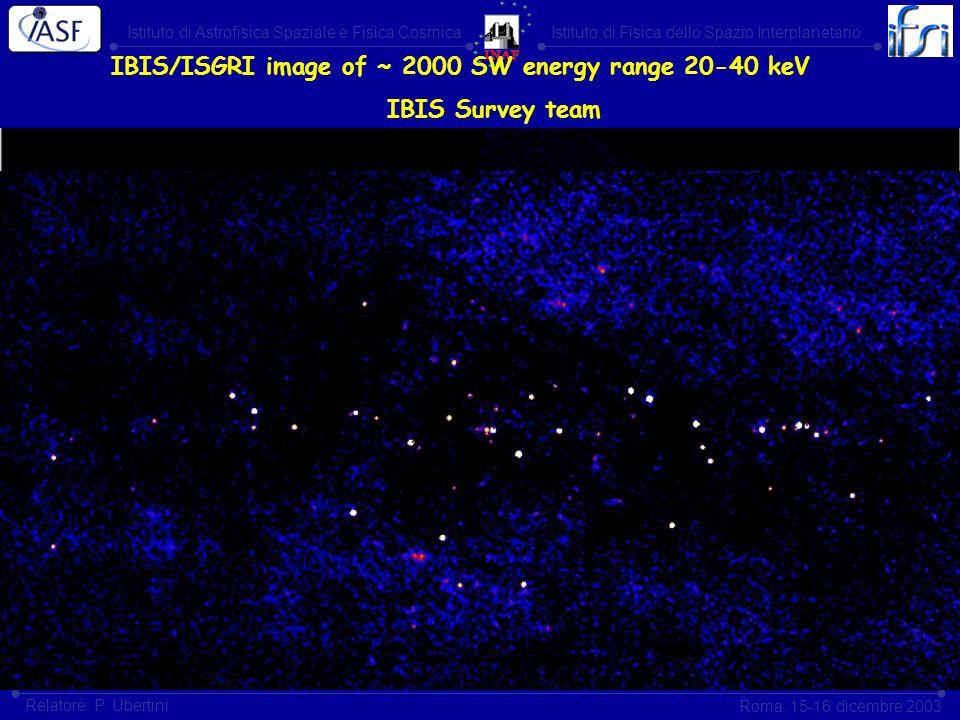 Istituto di Astrofisica Spaziale e Fisica CosmicaIstituto di Fisica dello Spazio Interplanetario Roma, 15-16 dicembre 2003 Relatore: P. Ubertini IBIS/