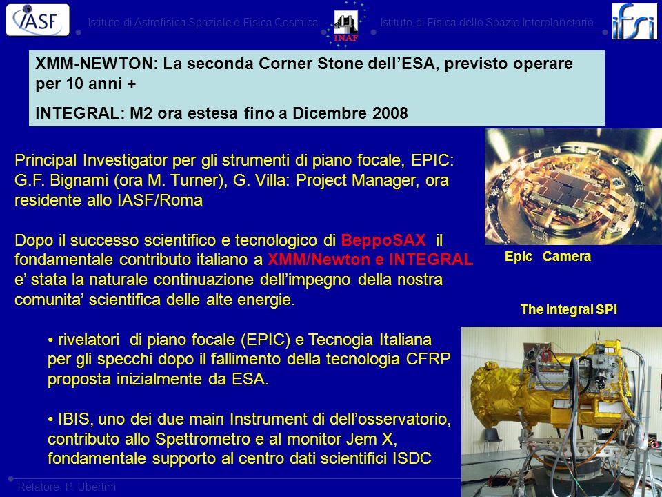 Istituto di Astrofisica Spaziale e Fisica CosmicaIstituto di Fisica dello Spazio Interplanetario Roma, 15-16 dicembre 2003 Relatore: P. Ubertini Princ
