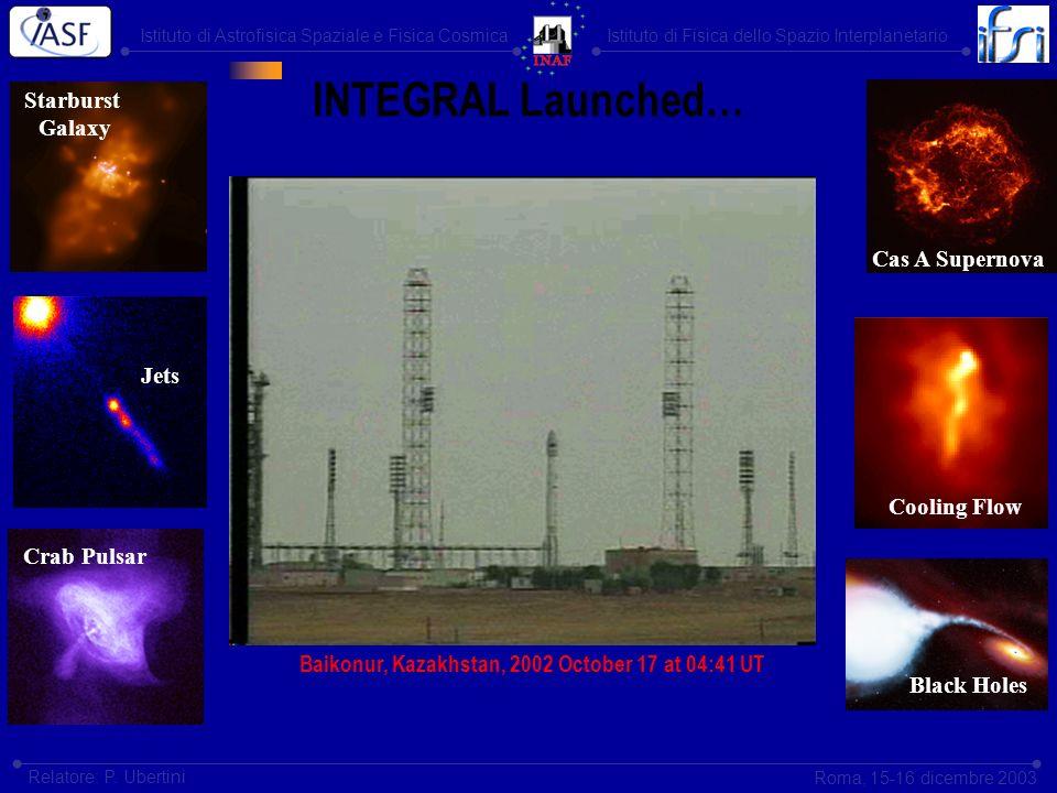 Istituto di Astrofisica Spaziale e Fisica CosmicaIstituto di Fisica dello Spazio Interplanetario Roma, 15-16 dicembre 2003 Relatore: P. Ubertini INTEG