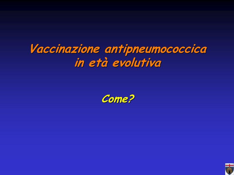 Vaccinazione antipneumococcica in età evolutiva Come?