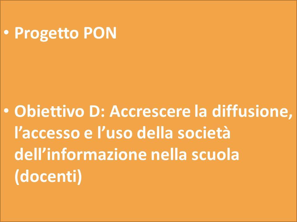 Progetti PON F-1-FSE-2010-149 Obiettivo F: Promuovere il successo scolastico, le pari opportunità e linclusione sociale Azione 1- Interventi per promu
