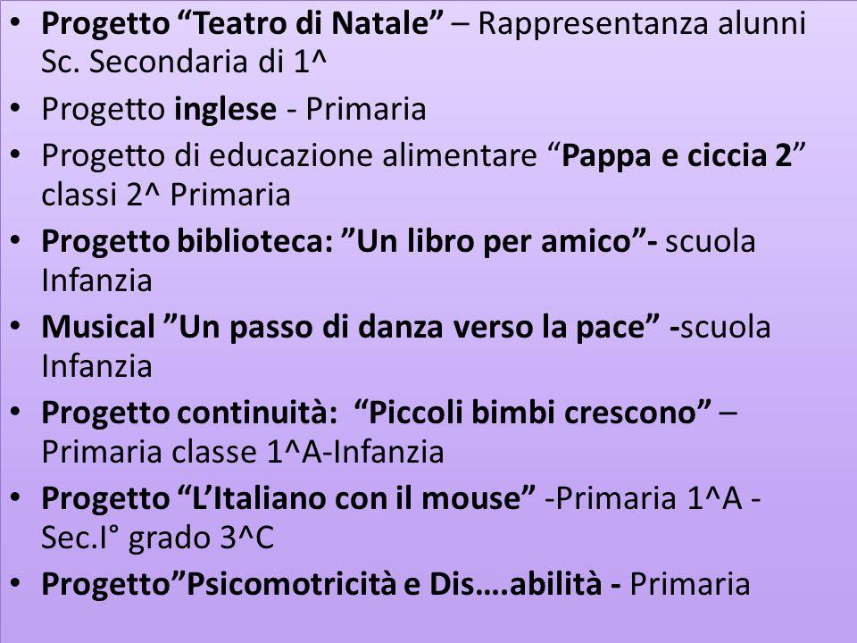 Progetto di matematica Matcos – Sc. Primaria e Sc. Secondaria di 1^ Grado Progetto di recupero di italiano e matematica – Sc. Primaria -Progetto di re