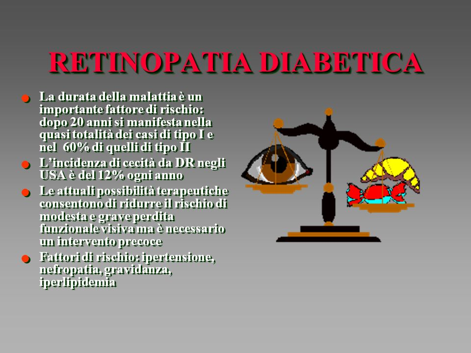 STUDI CLINICI SULLA RETINOPATIA DIABETICA DRS (Diabetic Retinopathy Study) ETDRS (Early Treatment Diabetic Retinopahty Study) DRVS (Diabetic Retinopathy Vitrectomy Study) DRS (Diabetic Retinopathy Study) ETDRS (Early Treatment Diabetic Retinopahty Study) DRVS (Diabetic Retinopathy Vitrectomy Study)