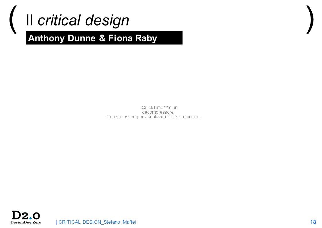 18 | CRITICAL DESIGN_Stefano Maffei ( Il critical design ) > A cosa si apparenta? …Activism Cautionary Tales Conceptual Design Contestable Futures Des