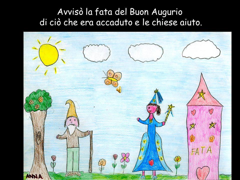 Avvisò la fata del Buon Augurio di ciò che era accaduto e le chiese aiuto.