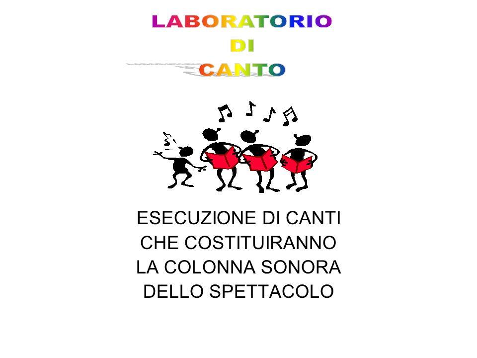 ESECUZIONE DI CANTI CHE COSTITUIRANNO LA COLONNA SONORA DELLO SPETTACOLO